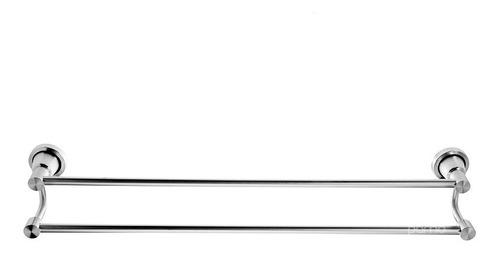 Toallero Doble Lujo Aluminio Para Baño Alta Calidad Y Acabo