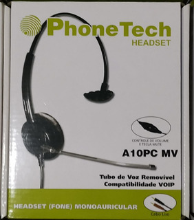 Headset Monoauricular Phonetech P2 Call Center Telemarketing