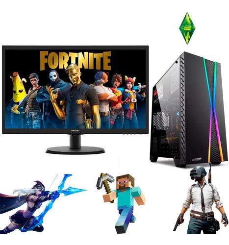 Pc Gamer Completa - Intel I5 8gb 1tb O Ssd Gtx 1050 O Gtx 1650 + Monitor 19 + Teclado Gamer + Mouse