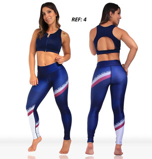 Leggins En Licra Supplex Subliminada
