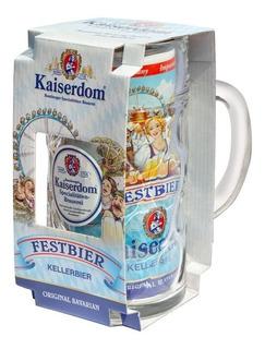 Cerveza Kaiserdom Festbier Lata 1 Litro + Vaso Chop Vidrio