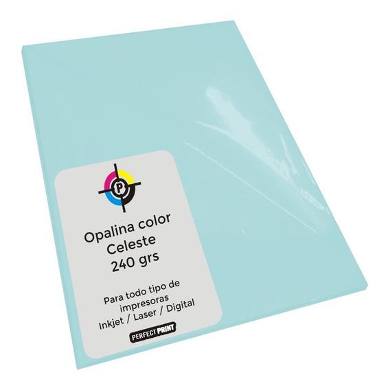 Opalina Color Oficio X 20 Hojas 240 Grs Cartulina