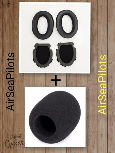 Espuma Para Headset Bose A10 E A20 + Espuma Microfone