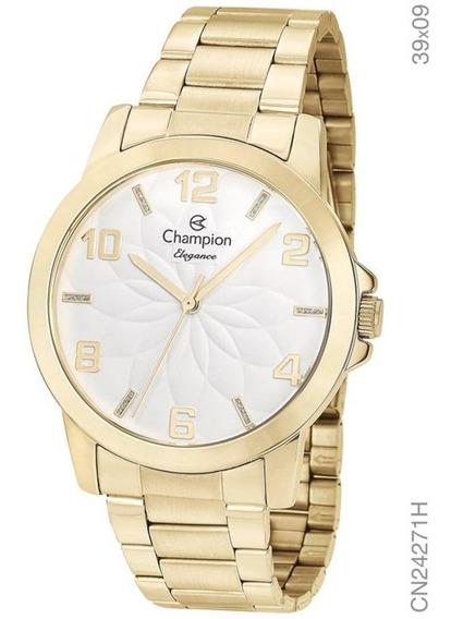 Relógio Feminino Champion Dourado Cn24271h