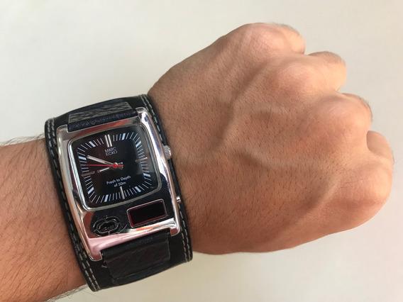 Relógio Marc Ecko Original Pulseira Em Couro Model E85003g1