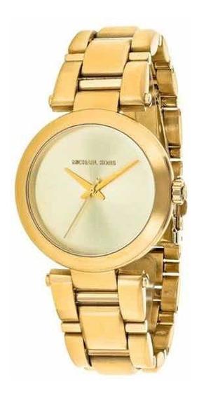 Relógio Michael Kors Dourado Mk3517. Original Na Caixa