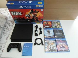 Playstation 4 Slim 500gb Console Bundle - Including 6 Games