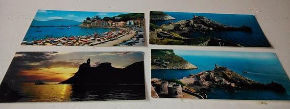 4 Postales Portovenere San Pietro Y San Terenzo La Spiaggia