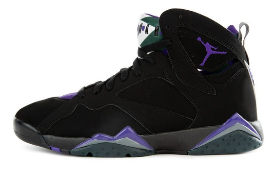 Tenis Jordan 7 Retro, Black-purple, Originales, Envio Gratis