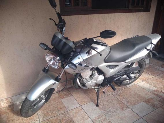 Honda Cbx Twister 2006/2006 Prata - Moto Bem Conservada.