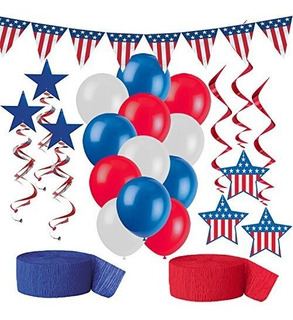 American Flag Party Decorations Red White And Blue Patriotic