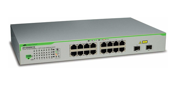 Switch Allied Telesis 16-port Managed At-gs950 16ps-10 ®