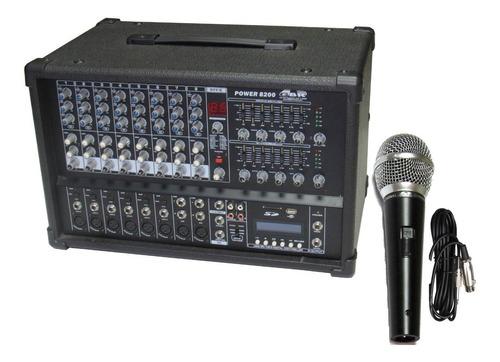 Consola Potenciada 8 Ch 800w Dsp Stereo Mp3 + Mic Pro Premi