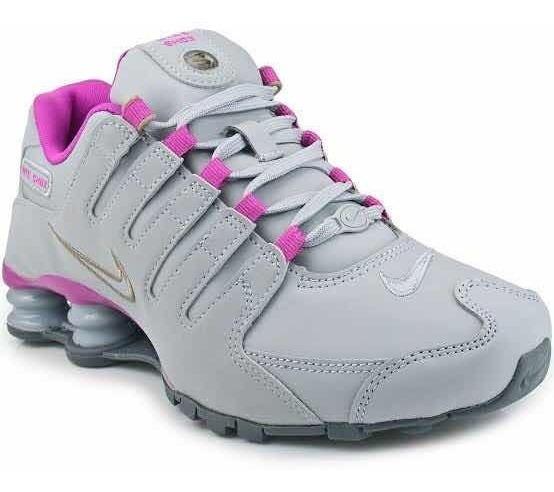 Tênis Nike Shox Nz W 314561 Cinza C/ Rosa