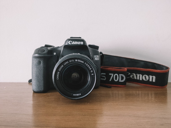 Canon 70d Com Lente Do Kit 18-35mm
