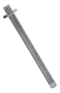 Regla Metalica De Acero Inoxidable De 15cm 6 Pulgad Con Clip