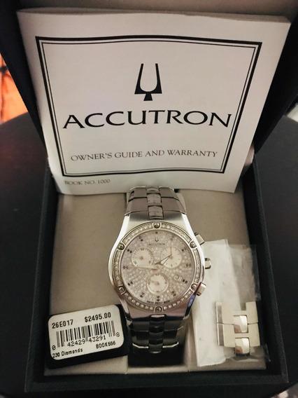 Reloj Bulova Accutron Lucerne Cronógrafo 230 Diamantes