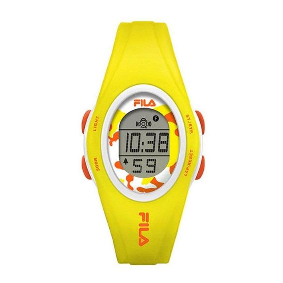Relógio Feminino Fila Digital Amarelo Original Com Desconto