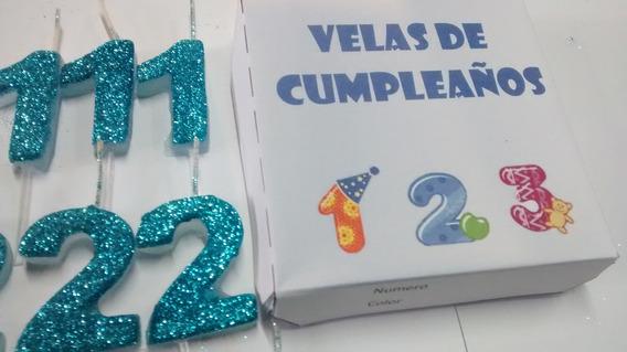 Velas Numero De Cumpleaños 240 Unidades