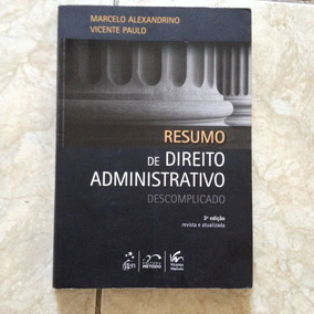 Livro Resumo De Direito Administrativo Descomplicado 3ªed C2