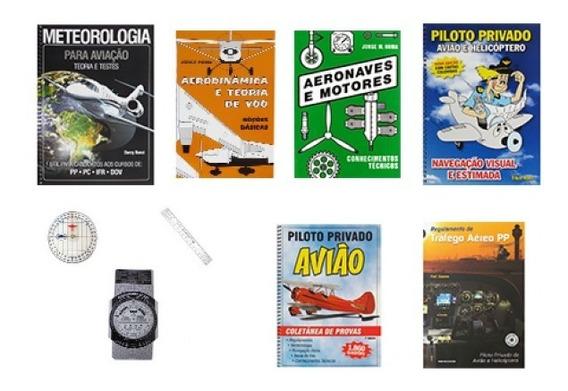 Kit De Livros Piloto Privado Aeroclube De São Paulo (ouro)