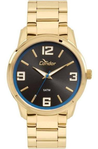 Relógio Condor Masculino Dourado Em Aço Co2035kwt/4p