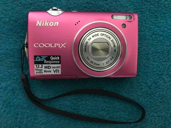 Câmera Digital Nikon Coolpix S5100 Rosa
