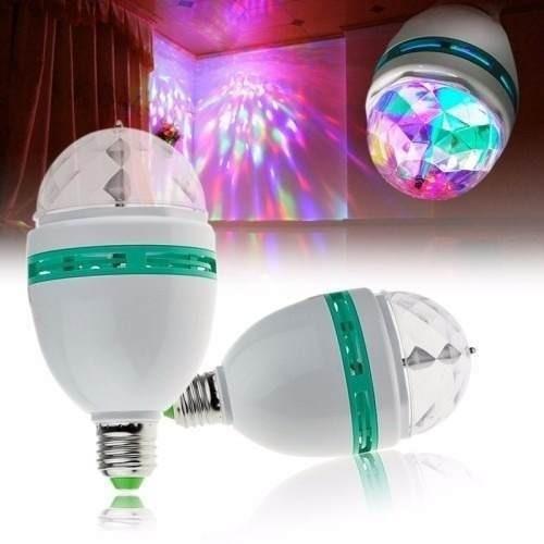 Kit 3 Lâmpada Luz Led Colorida Enfeita Decoração Casa Quarto