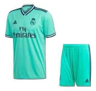 Uniforme Infantil Do Real Madrid Novo Oficial - Mega Oferta