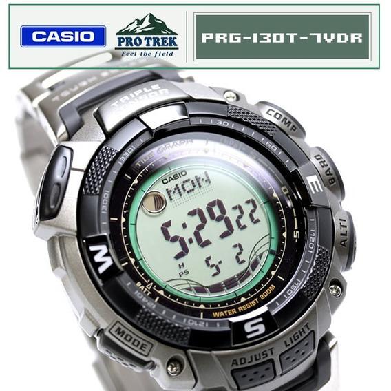 Relogio Casio Protrek Prg-130t-7vdr 12x Sem Juros Prg 130t