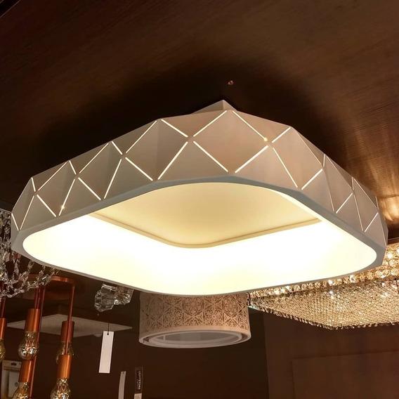 Plafon Otto Quadrado 50x50cm Branco Starlux