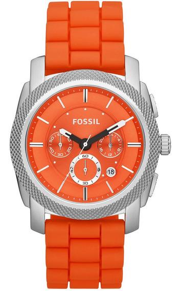 Relógio Masculino Fossil Analógico Casual Ffs4806/z Laranja