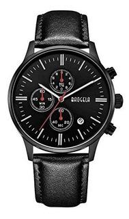 Reloj Baogela Para Hombre 1611-black-l Color Negro Pantalla