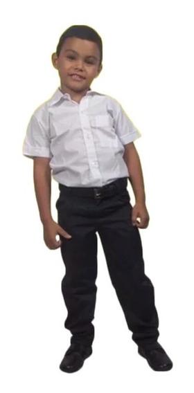 Camisas Escolares Mgo 100% Algodon