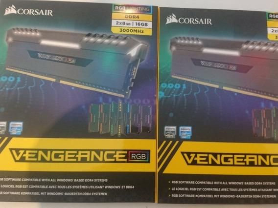 Memória Corsair Vengeance Led Rgb 16gb (2x8gb) 3000mhz Cl15