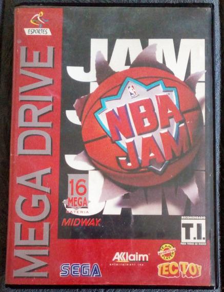 Cartucho Mega Drive Jogo - Nba Jam - Completo ( Sem Label )