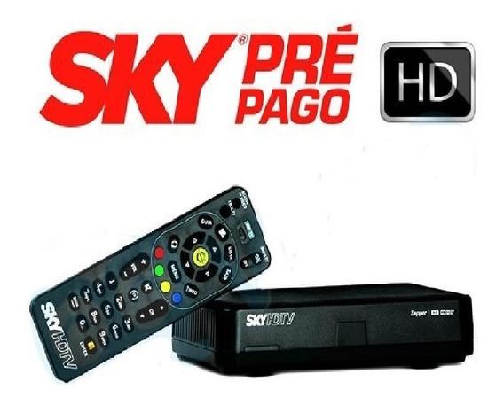 Sky Pré-pago Flex Hd + Habilitação Pacote Digital 30 Dias