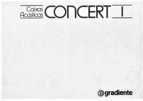 Manual Gradiente Caixas Acústicas Concert I - Digital