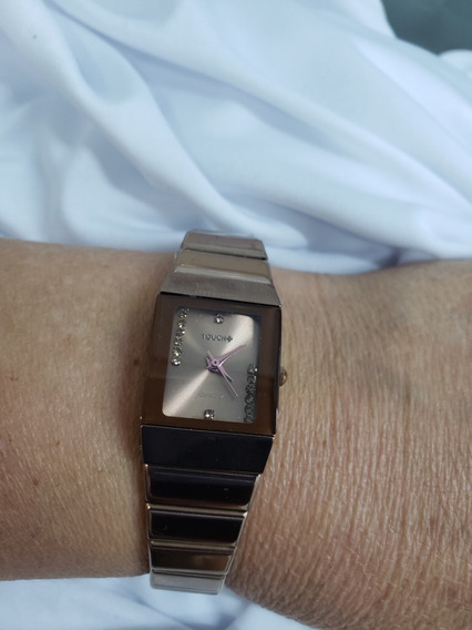 Relógio Feminino Marca Touch - Metal Rose 17 Cm