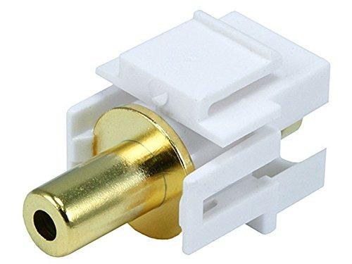Imagen 1 de 4 de Monoprice Keystone Jack 35mm Stereo Flush Tipo Blanco