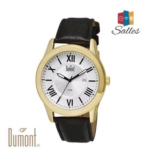 Relógio Masculino Dumont Pulseira De Couro Du2115bt/3k Novo!