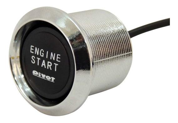 Botão De Partida Engine Start Universal Com Iluminação Azu