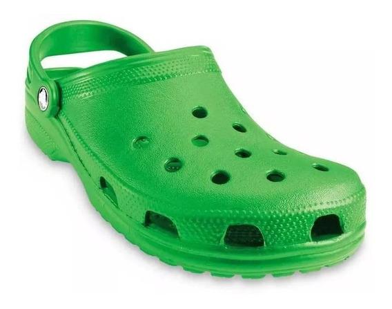 Crocs Originales Classic Verde Unisex 41