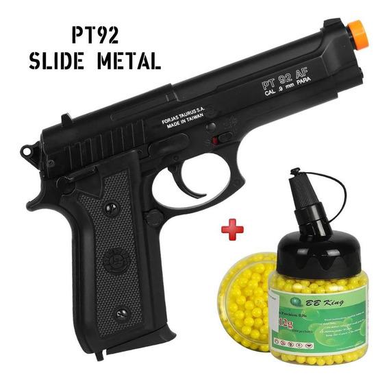 Airsoft Pistola Spring Taurus Pt92 Semi Metal Bbs 1000 0.12g