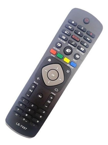 Controle Remoto Smart Tv 4k Philips 50pug6700/78 C Netflix