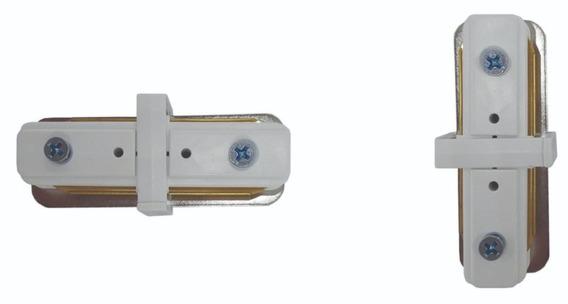 Conector De Trilho Eletrificado Na Cor Branca Formato I