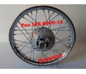 Roda Moto Traseira Fan 125 2009-14 Raios Cromados