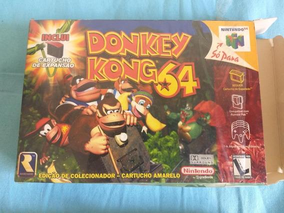 Donkey Kong 64 Na Caixa Como Novo + Cartucho De Expansão N64