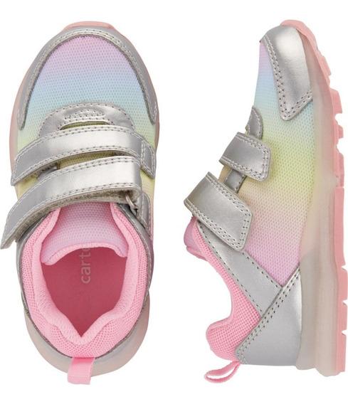 Zapatos Tenis Carter`s Niñas Alumbran. Con Luces Talla 24