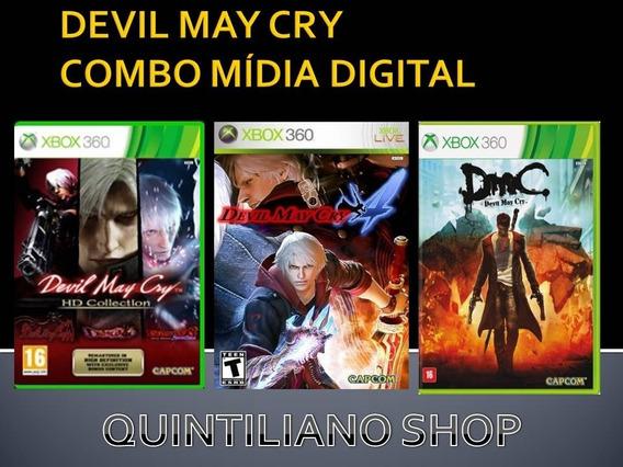 Devil May Cry Combo Xbox 360 Mídia Digital